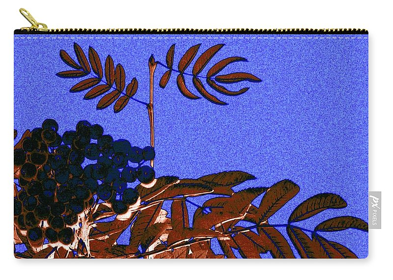 Abstract Carry-all Pouch featuring the digital art Mountain Ash Design by Will Borden