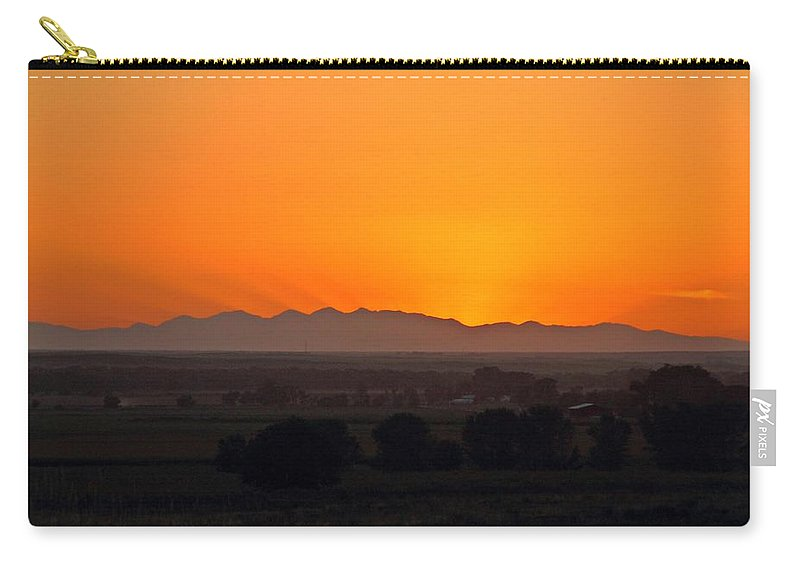 Landscape Carry-all Pouch featuring the photograph Mountain-country Sunset by Marcelo Albuquerque