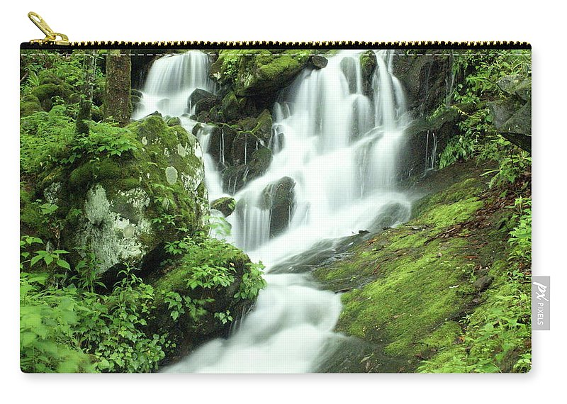 Waterfalls Carry-all Pouch featuring the photograph Mountain Falls by Marty Koch