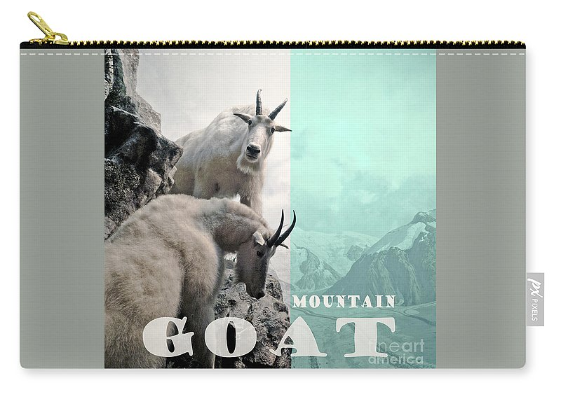 Mountain Goat Carry-all Pouch featuring the photograph Mountain Goats by Zena Zero