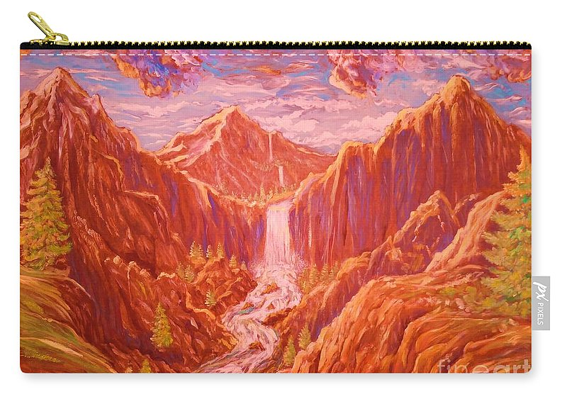 Wilderness Carry-all Pouch featuring the painting Mountain Landscape by Kean Butterfield