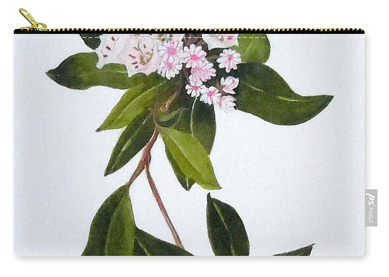 Mountain Laurel Carry-all Pouch featuring the painting Mountain Laurel by Jean Blackmer