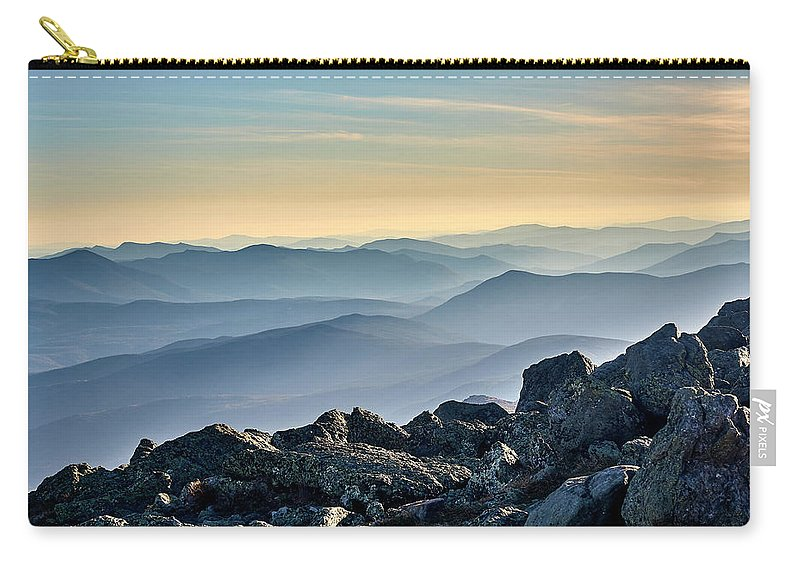 Mountain Carry-all Pouch featuring the photograph Mountain Layers by Dmitry Dreyer