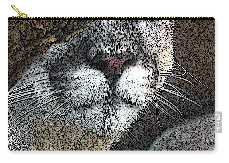 Big Cats Carry-all Pouch featuring the photograph Mountain Lion by Ernie Echols
