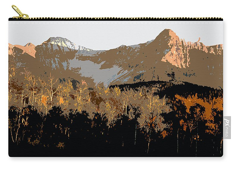 Mountains Carry-all Pouch featuring the painting Mountain Majesty by David Lee Thompson