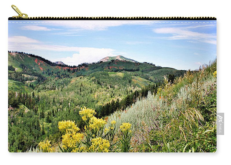 Mountain Carry-all Pouch featuring the photograph Mountain Meadows by Kristin Elmquist