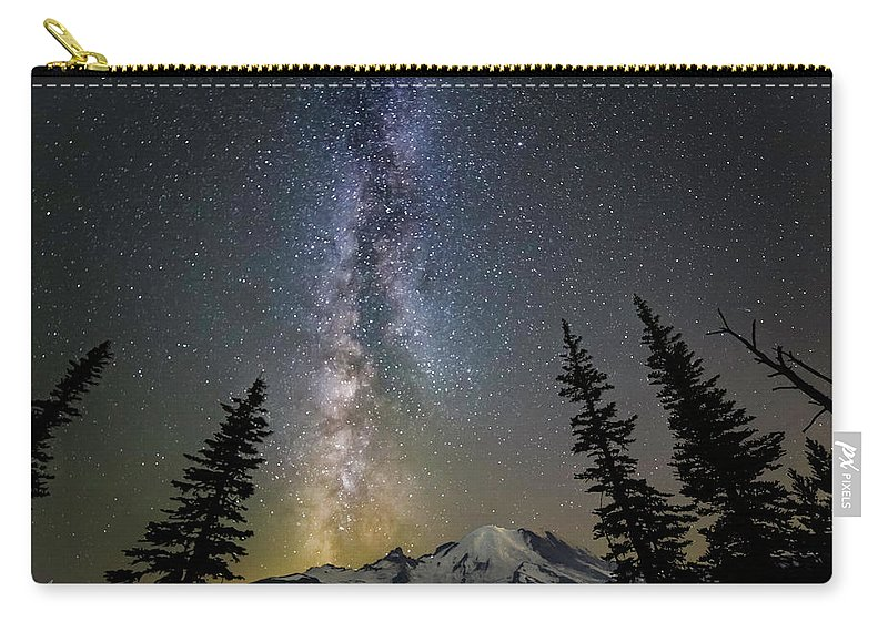 Friday Harbor Washington Carry-all Pouch featuring the photograph Mountain Milky Way by Thomas Ashcraft