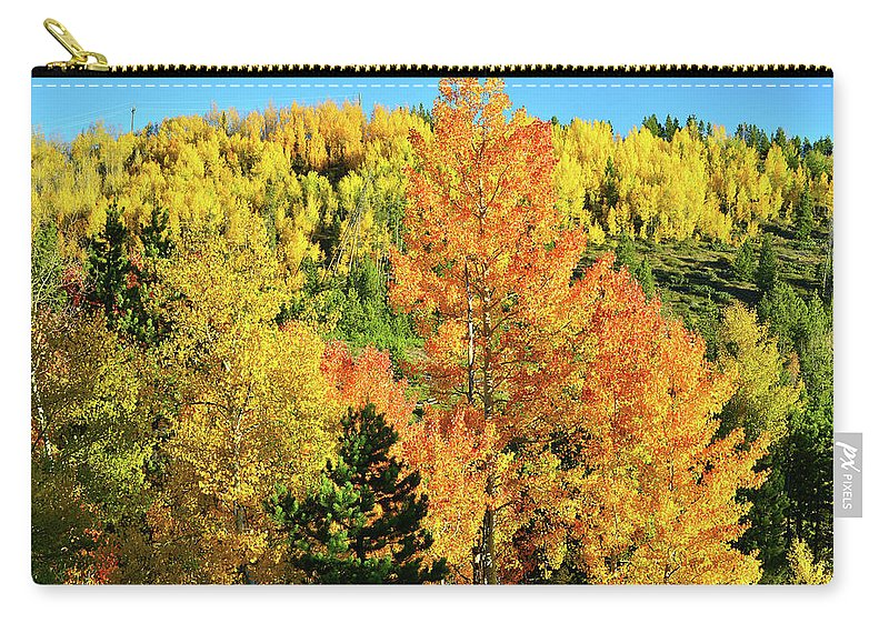 Colorado Carry-all Pouch featuring the photograph Mountain Of Color In Dillon Colorado by Ray Mathis