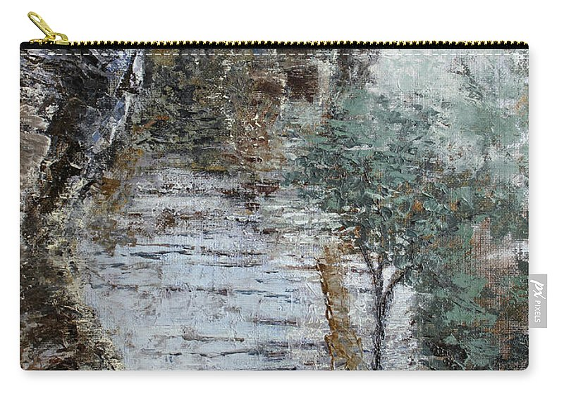 Landscape Carry-all Pouch featuring the painting Mountain Pass by Todd A Blanchard