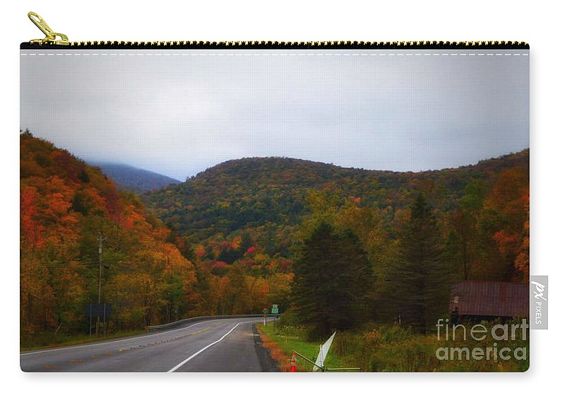 Vermont Carry-all Pouch featuring the photograph Mountain Road, Killington Vermont by Karyn Regal
