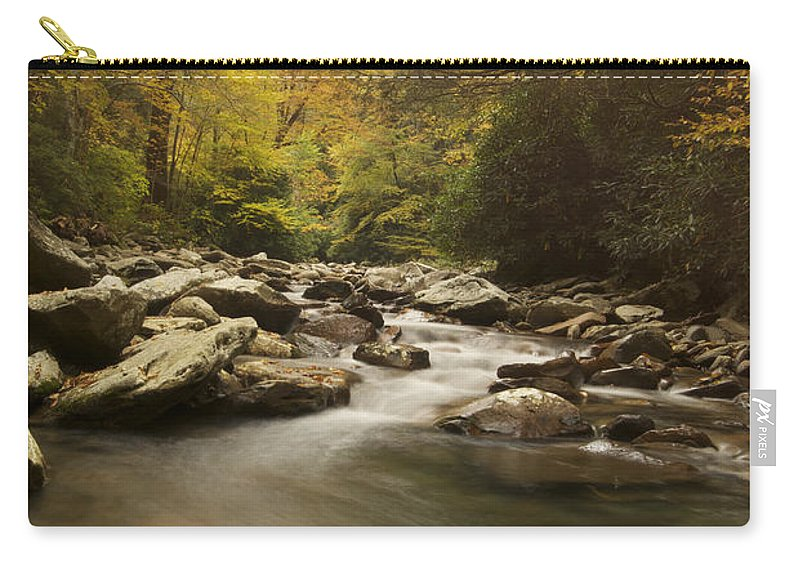 Landscape Carry-all Pouch featuring the photograph Mountain Stream 2 by Michael Peychich