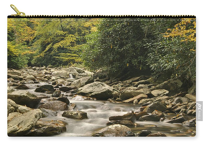 Landscape Carry-all Pouch featuring the photograph Mountain Stream by Michael Peychich