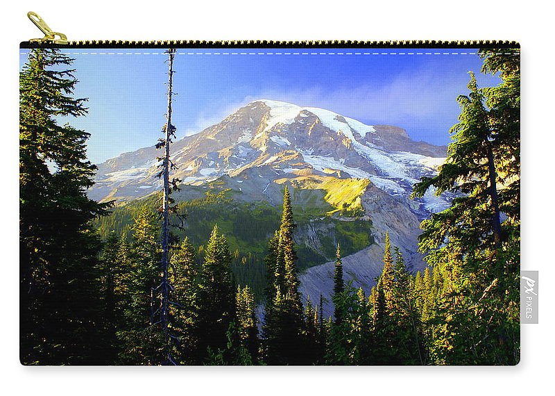 Mountain Carry-all Pouch featuring the photograph Mountain Sunset by Marty Koch