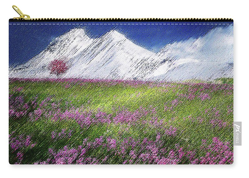 Valley Carry-all Pouch featuring the digital art Mountain Valley by CR Beaumont