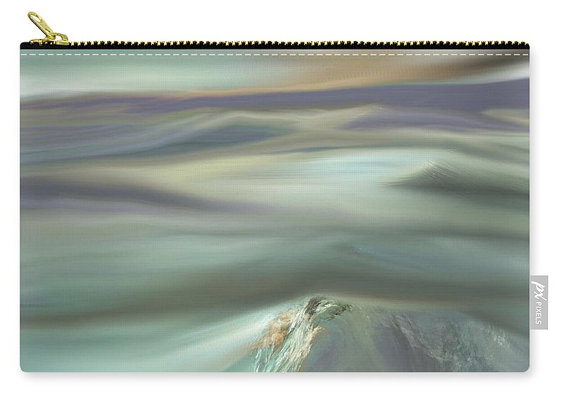 Fine Art Carry-all Pouch featuring the digital art Mountain View by David Lane