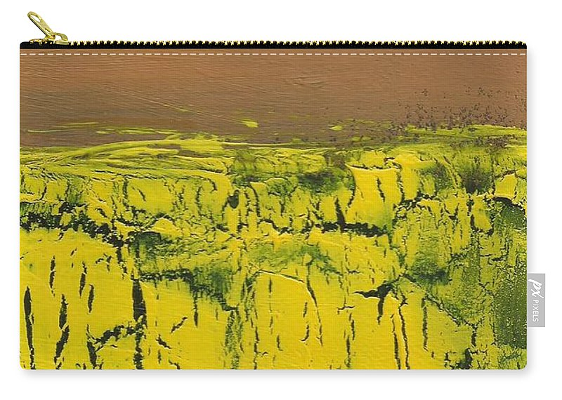 Landscape Carry-all Pouch featuring the mixed media Mountain View by David Weigham