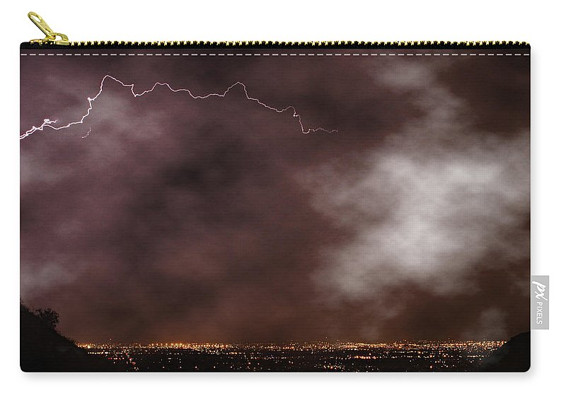 Lightning Carry-all Pouch featuring the photograph Mountain View by James BO Insogna