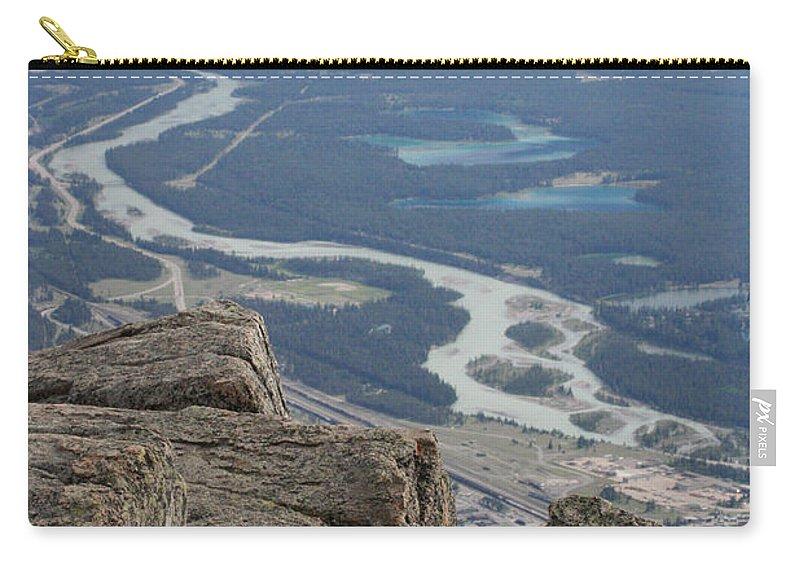 Rocky Mountains Carry-all Pouch featuring the photograph Mountain View by Mary Mikawoz