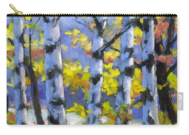 Art Carry-all Pouch featuring the painting Mountain View by Richard T Pranke