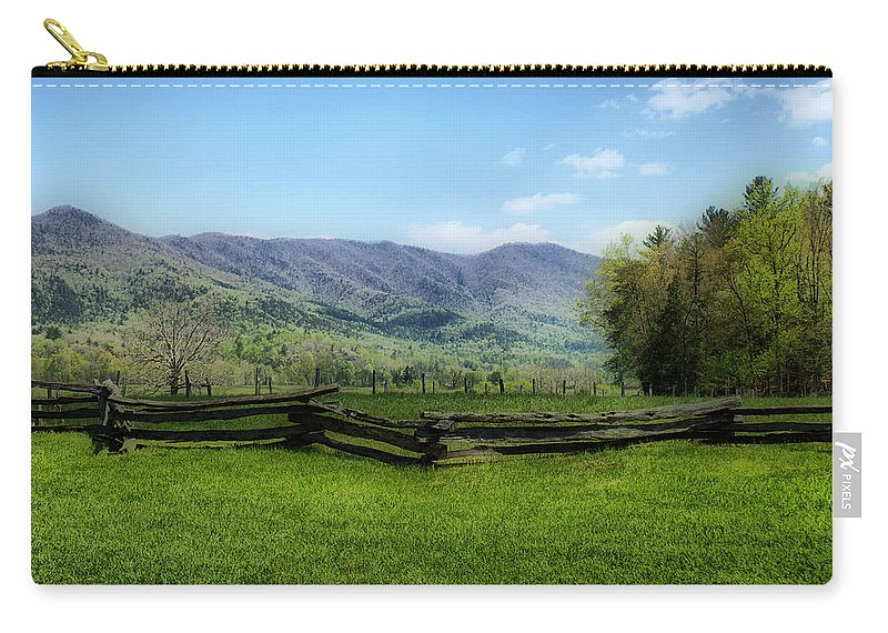 Cades Cove Carry-all Pouch featuring the photograph Mountain View by Sandy Keeton