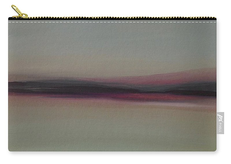 Landscape Carry-all Pouch featuring the painting Mountains At Dawn by Michelle Abrams