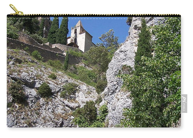 Church Carry-all Pouch featuring the photograph Moustier St. Marie Church by Nadine Rippelmeyer