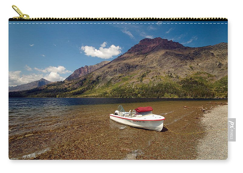 Moutains Carry-all Pouch featuring the photograph Moutain Lake by Sebastian Musial