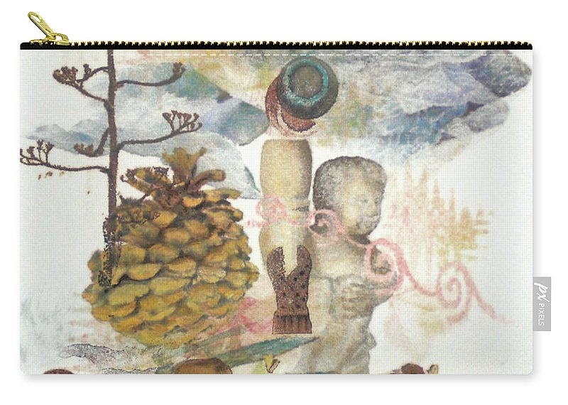 Abstract Carry-all Pouch featuring the painting Move Along by Valerie Meotti