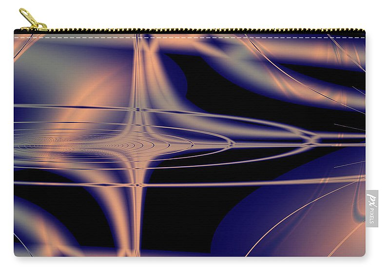 Fractal Carry-all Pouch featuring the digital art Movement by Debra Martelli