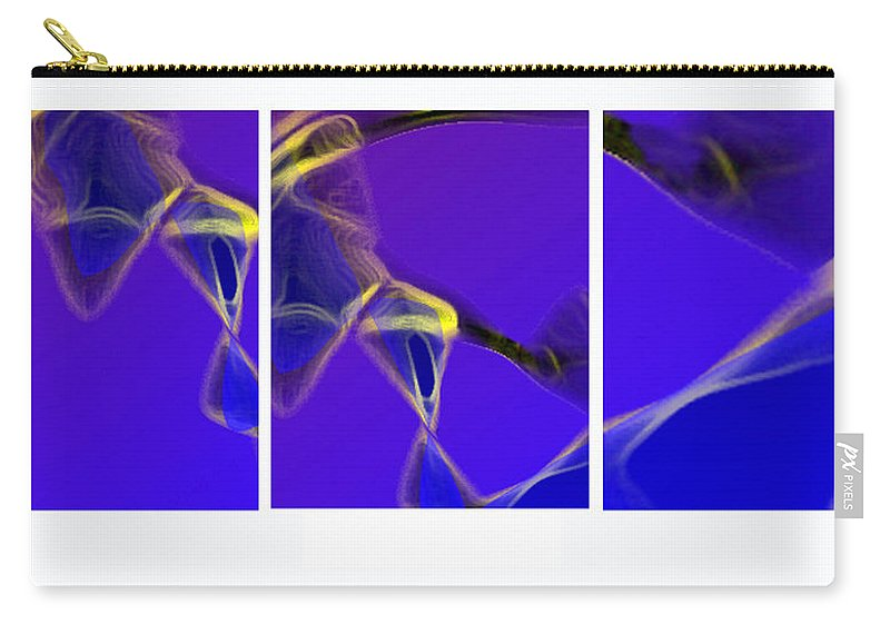 Abstract Carry-all Pouch featuring the digital art Movement In Blue by Steve Karol
