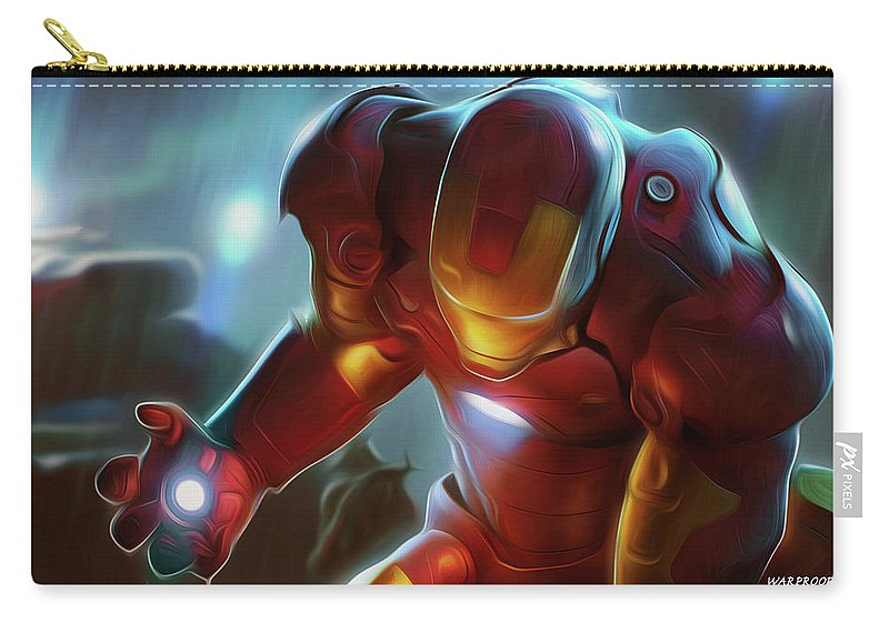Movie Carry-all Pouch featuring the digital art Movie by Dorothy Binder