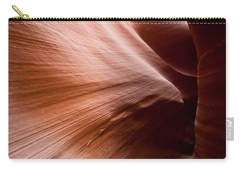 Slot Canyon Carry-all Pouch featuring the photograph Moving Canyon by Scott Sawyer