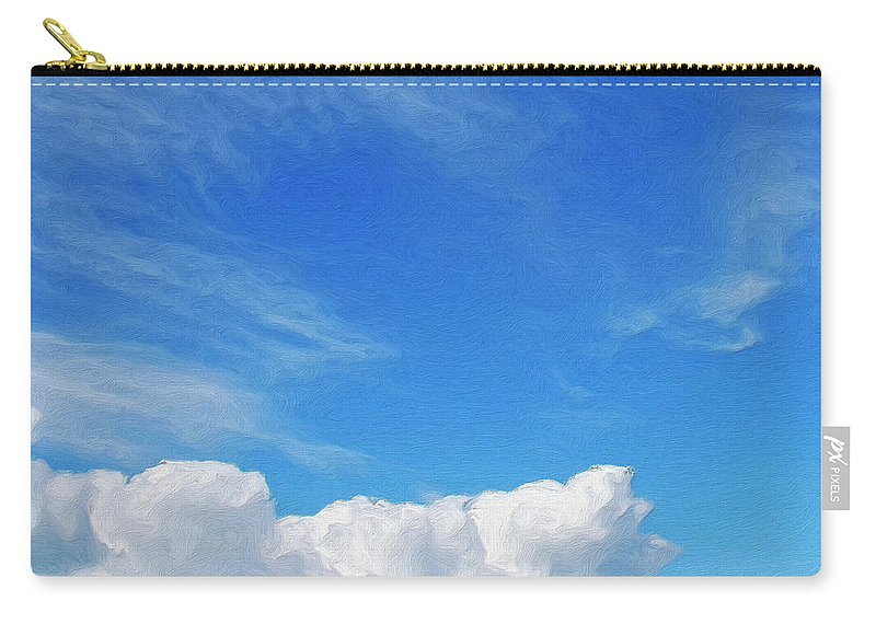 Clouds Carry-all Pouch featuring the painting Moving Fast by Dominic Piperata