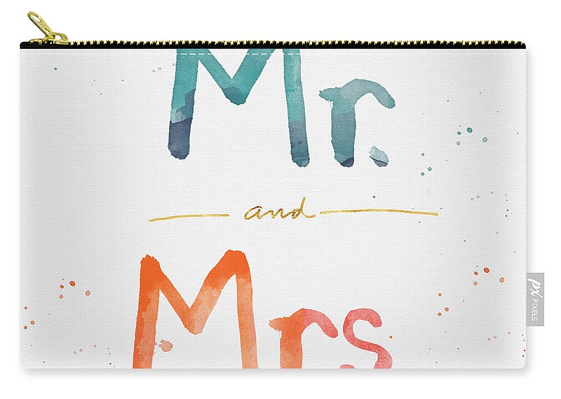 Mr And Mrs Carry-all Pouch featuring the painting Mr And Mrs by Linda Woods