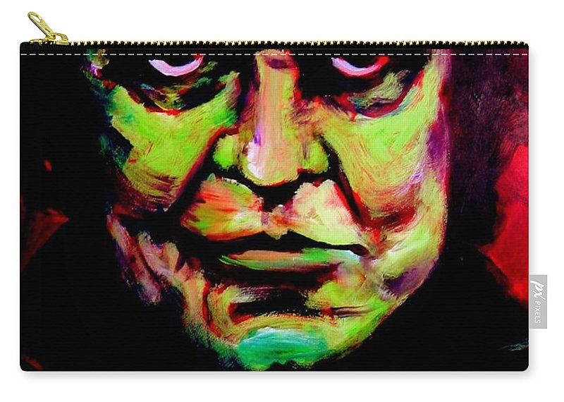 Portrait Carry-all Pouch featuring the painting Mr. Cash by Jason Reinhardt