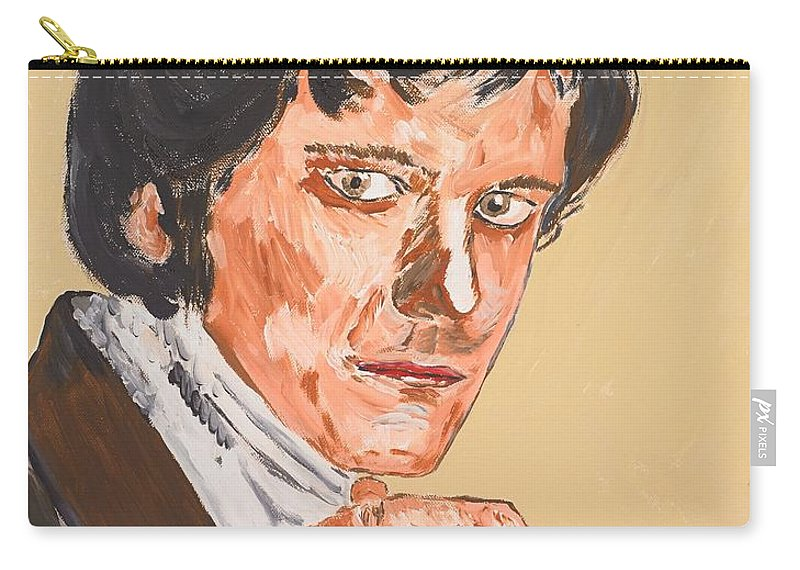 Darcy Carry-all Pouch featuring the painting Mr. Darcy by Valerie Ornstein