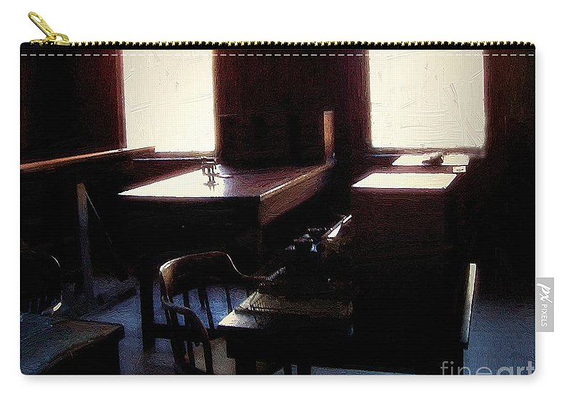 Antiques Carry-all Pouch featuring the painting Mr. Edison Has Left The Building by RC DeWinter