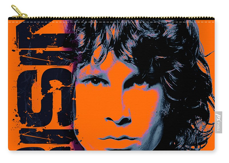 The Doors Carry-all Pouch featuring the digital art Mr Mojo Risin by Mal Bray