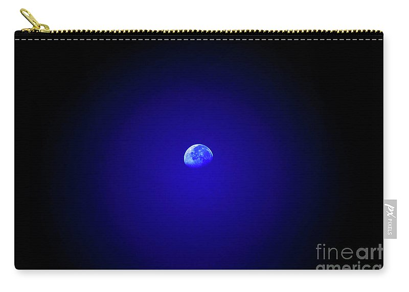 Moon Carry-all Pouch featuring the photograph Mr Moon by Lori Tambakis