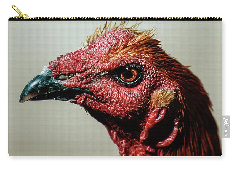 Chicken Carry-all Pouch featuring the photograph Mr. Rooster II by Gustavo Ramirez