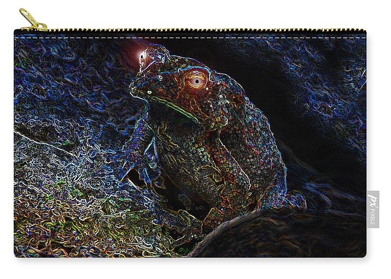 Art Carry-all Pouch featuring the painting Mr Toads Wild Eyes by David Lee Thompson