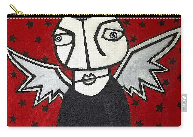 Clay Carry-all Pouch featuring the painting Mr.creepy by Thomas Valentine