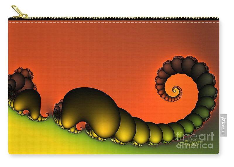 Fractal Carry-all Pouch featuring the digital art Mrs. And Mr. Centipede by Jutta Maria Pusl