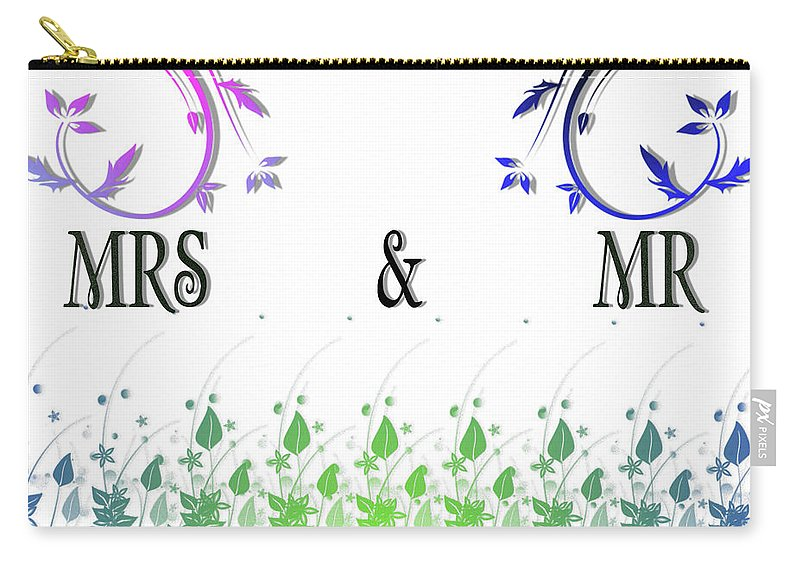 Mrs Carry-all Pouch featuring the digital art Mrs And Mr by Ivan Angelovski
