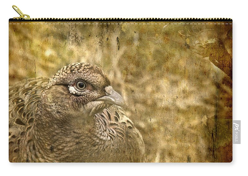 Pheasant Carry-all Pouch featuring the photograph Mrs Pheasant by Angel Tarantella