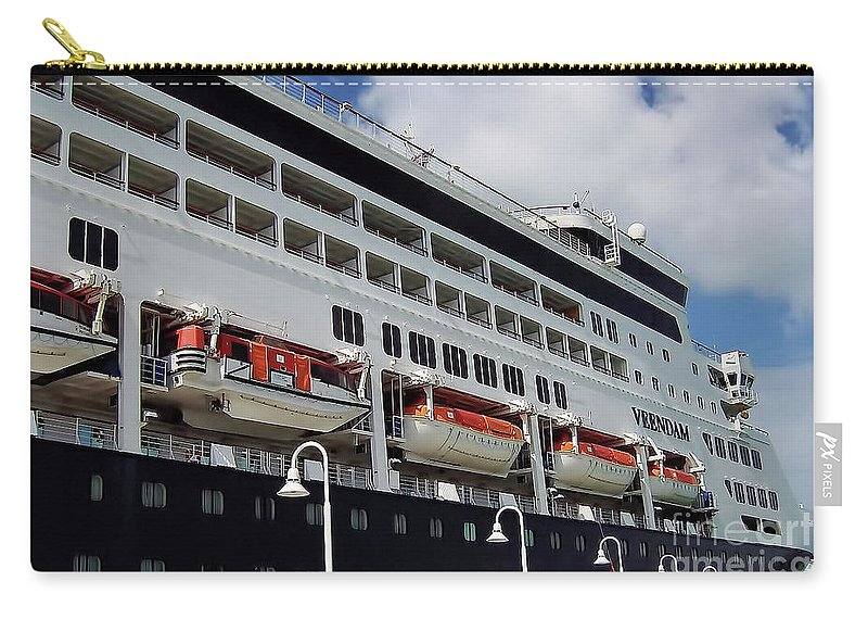 Ship Carry-all Pouch featuring the photograph Ms Veendam by D Hackett