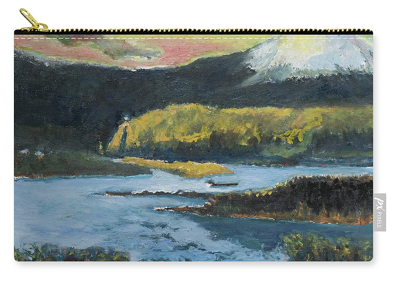 Mt Hood Carry-all Pouch featuring the painting Mt Hood Dazzle by Craig Newland