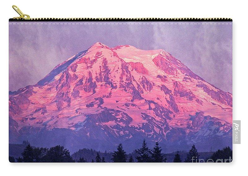 Mt. Rainier Carry-all Pouch featuring the photograph Mt. Rainier by Jim And Emily Bush