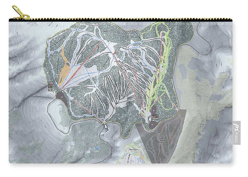 Mapsynergy Carry-all Pouch featuring the digital art Mt Rose by Matt Liapis