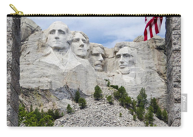 Mount Rushmore Carry-all Pouch featuring the photograph Mt Rushmore Entrance by Jon Berghoff